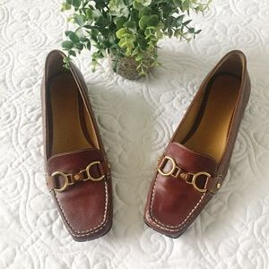 Cole Haan | Treva Brown leather Buckle Loafer 9.5